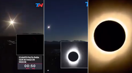 Eclipse solar total: el preciso momento en que todo se oscureció (VIDEO)