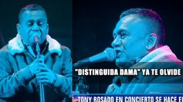Tony Rosado en su último concierto: ''Distinguida dama, ya te olvidé'' (VIDEO)