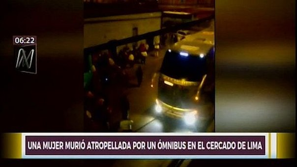 Cercado de Lima: mujer muere tras ser atropellada por bus interprovincial (VIDEO)