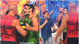 'Combate' retira a Bruno Agostini por agredir en vivo a compañero (VIDEO)