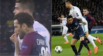 ​Dani Alves tuvo desagradable gesto contra Cristiano Ronaldo en el PSG vs Real Madrid (VIDEO)