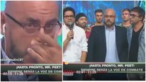 'Combate': 'Mr. Peet' se quiebra en vivo al escuchar palabras de despedida (VIDEO)