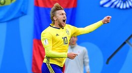 Emil Forsberg clasificó a Suecia hasta cuartos de final con impensado gol (VIDEO)