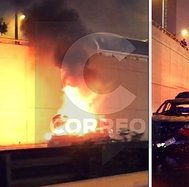 ​Auto se incendia en la Av. Javier Prado (FOTOS y VIDEO)