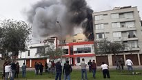 Incendio se registra en empresa de seguridad en San Borja (VIDEO)
