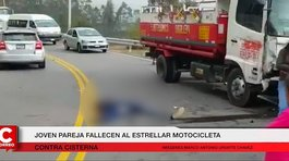 Pareja viajaba en motocicleta y sufrieron un accidente fatal en Cajamarca (VIDEO)