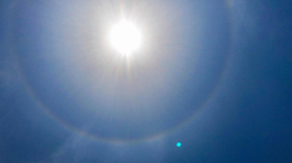 Usuarios comparten fotos y videos de halo solar sobre Lima