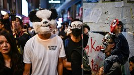 Hong Kong: Protestan contra gobierno disfrazados por Halloween (VIDEO y FOTOS)
